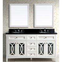 Dawn USA Modern 61'' Double Vanity Set with Mirror