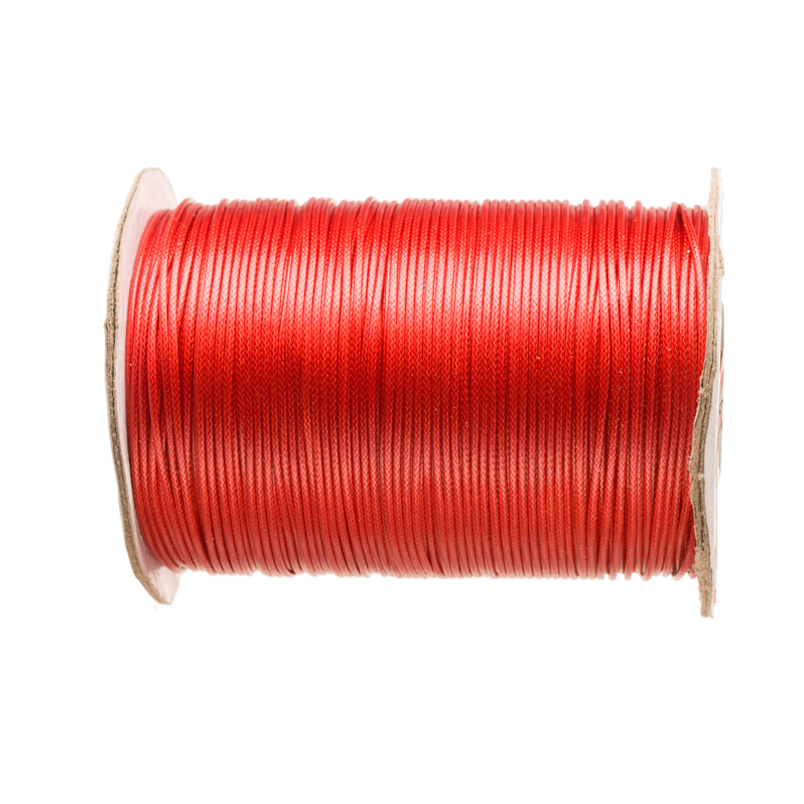 Nylon Waxed Thread, #12(1.0mm) Red, Sold In 165yards pool
