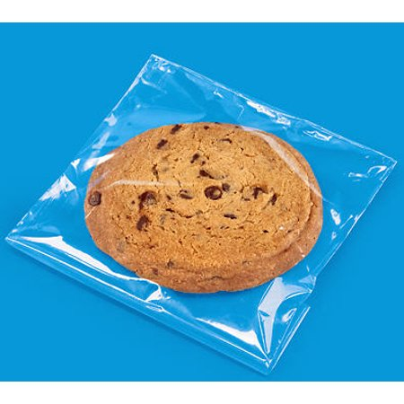 4 3/8x5 3/4 Resealable Cookie Packaging Cello Bags with Adhesive Closure -100Pack