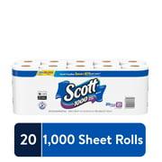 Scott 1000 Sheets Per Roll Toilet Paper, 20 Rolls, Bath Tissue