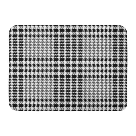 GODPOK Checker Abstract Check Tweed White and Black Imitation and Cashmere Checkered Rug Doormat Bath Mat 23.6x15.7 (Tweed Cashmere)
