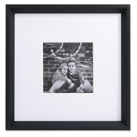 5x5 Wide Border Matted Frame - Gallery Black - Halloween Frames Borders