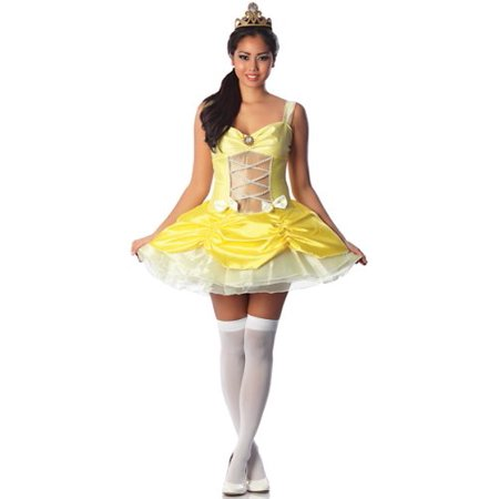 Delicious Belle Of The Ball Sexy Costume, Yellow, Large - Fairy Tale Ball Costume Ideas