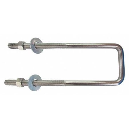 U-Bolt, 3/8-16, Steel, Zinc - Stainless Steel U-bolt Bow