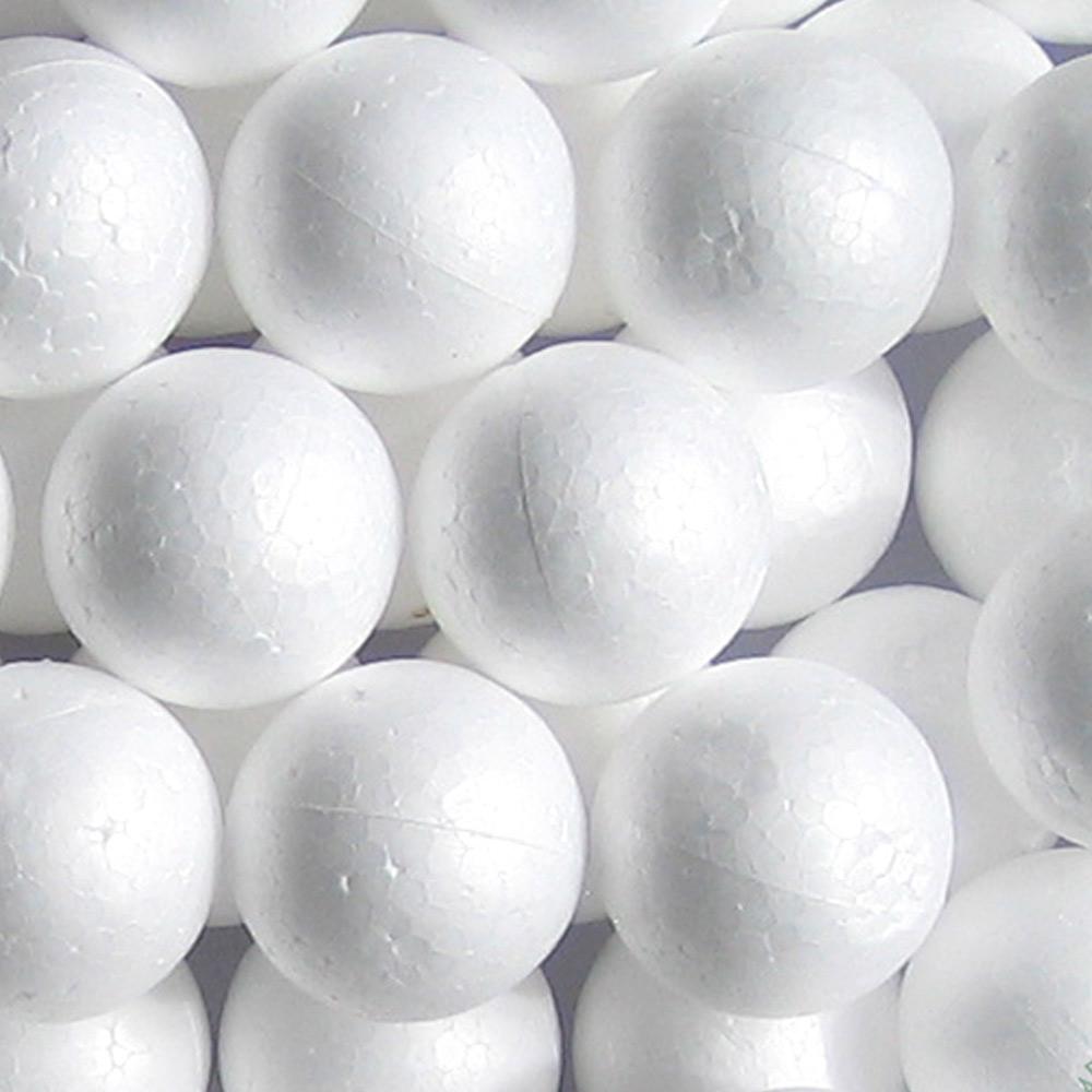 "72 Styrofoam Balls 2.1"" School Christmas Arts Crafts Modeling Smooth Polystyrene"