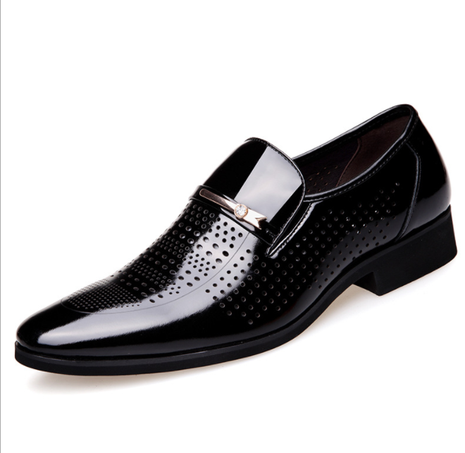 Men Leather Cut Out Breathable Casual Formal Dress Shoes Comfy Business Shoes