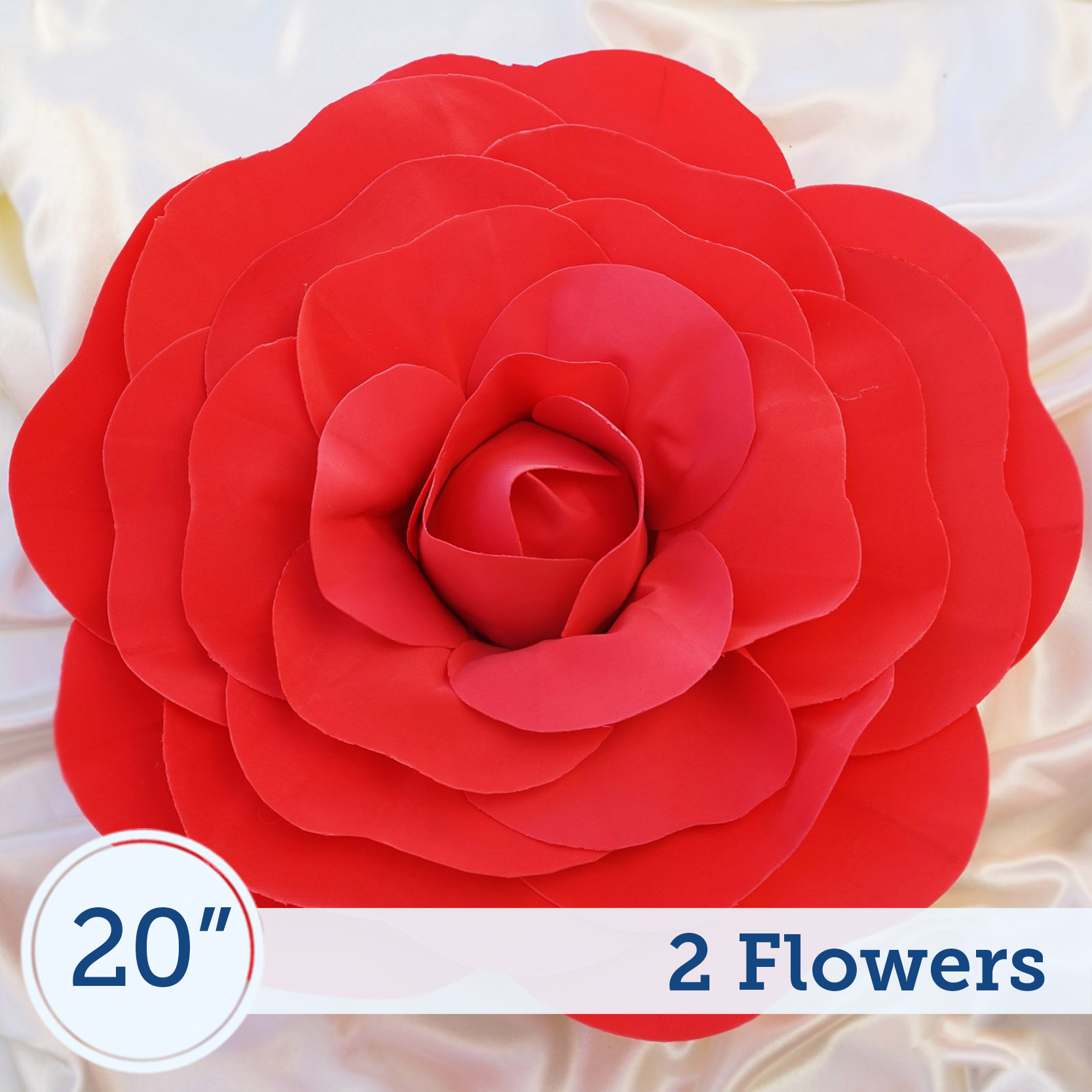 "BalsaCircle 2 pcs 20"" wide Artificial Large Roses Flowers Wall Backdrop - DIY Home Wedding Party Bouquets Arrangements Centerpieces"