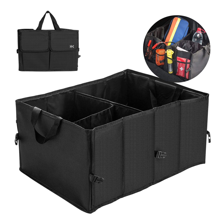 Collapsible Car Trunk Storage Organizer wTraps Heavy Duty Cargo