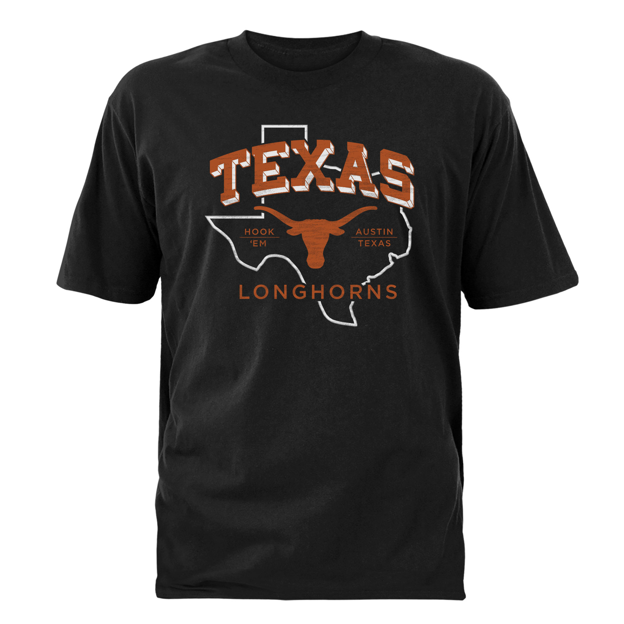 Men's Black Texas Longhorns Prideland T-Shirt
