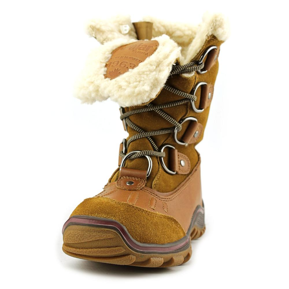 Pajar Alina Women  Round Toe Suede Tan Snow Boot