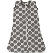 Bacati - Ikat Dots 100% Cotton breathable Muslin Sleep Sack, Gray
