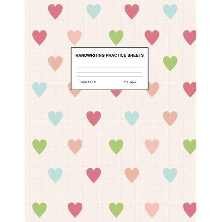 Handwriting Practice Sheets : Cute Blank Lined Paper Notebook for Writing Exercise and Cursive Worksheets - Perfect Workbook for Preschool, Kindergarten, 1st, 2nd, 3rd and 4th Grade Kids - Product Code A4 8200 8200 Series Notebooks
