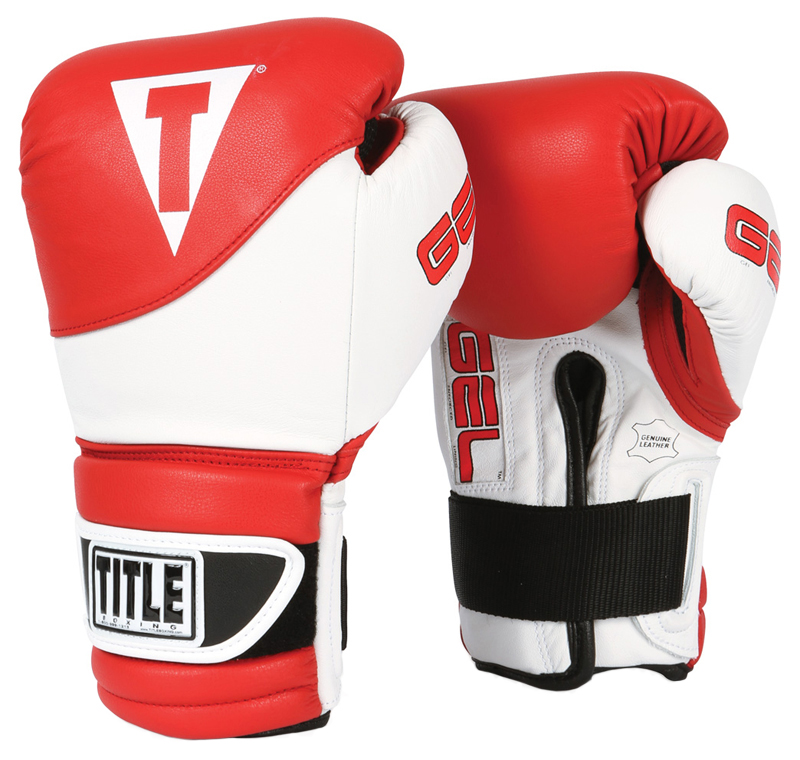 Title Boxing Gel Suspense Training Gloves - Red/White