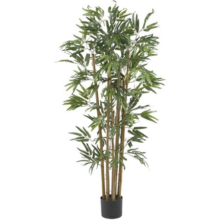 Nearly Natural 4 ft. Multi-Bambusa Bamboo Silk Tree