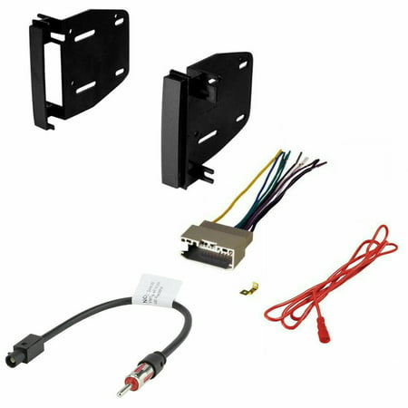 2009 2010 2011 2012 Dodge Ram 1500 Double Din Dash Kit Wire Harness Antenna (Double Antenna Adapter)