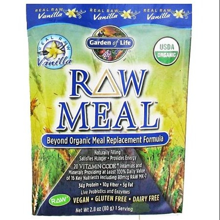 Garden Of Life Raw Meal Vanilla 10 Packets