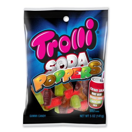 Trolli Gummy (Trolli, Soda Poppers Gummy Candy,)