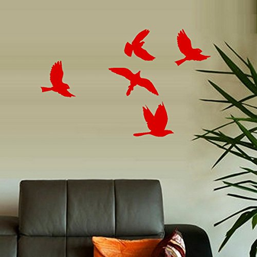 Decal ~ Cardinal Birds Flying Lot 5 ~ Wall or Window Decal