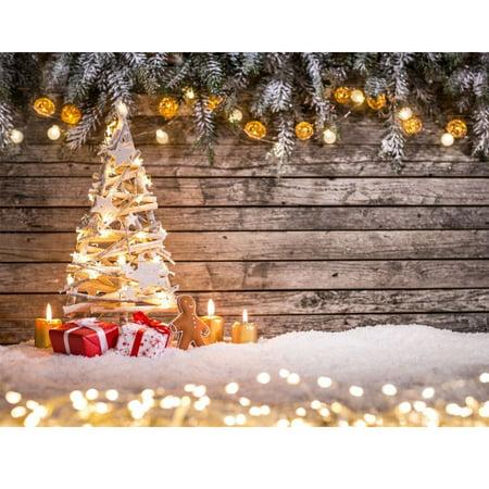 7x5FT Christmas Tree Gift Photography Background Studio Photo Prop Christmas Backdrop - Christmas Backdrops