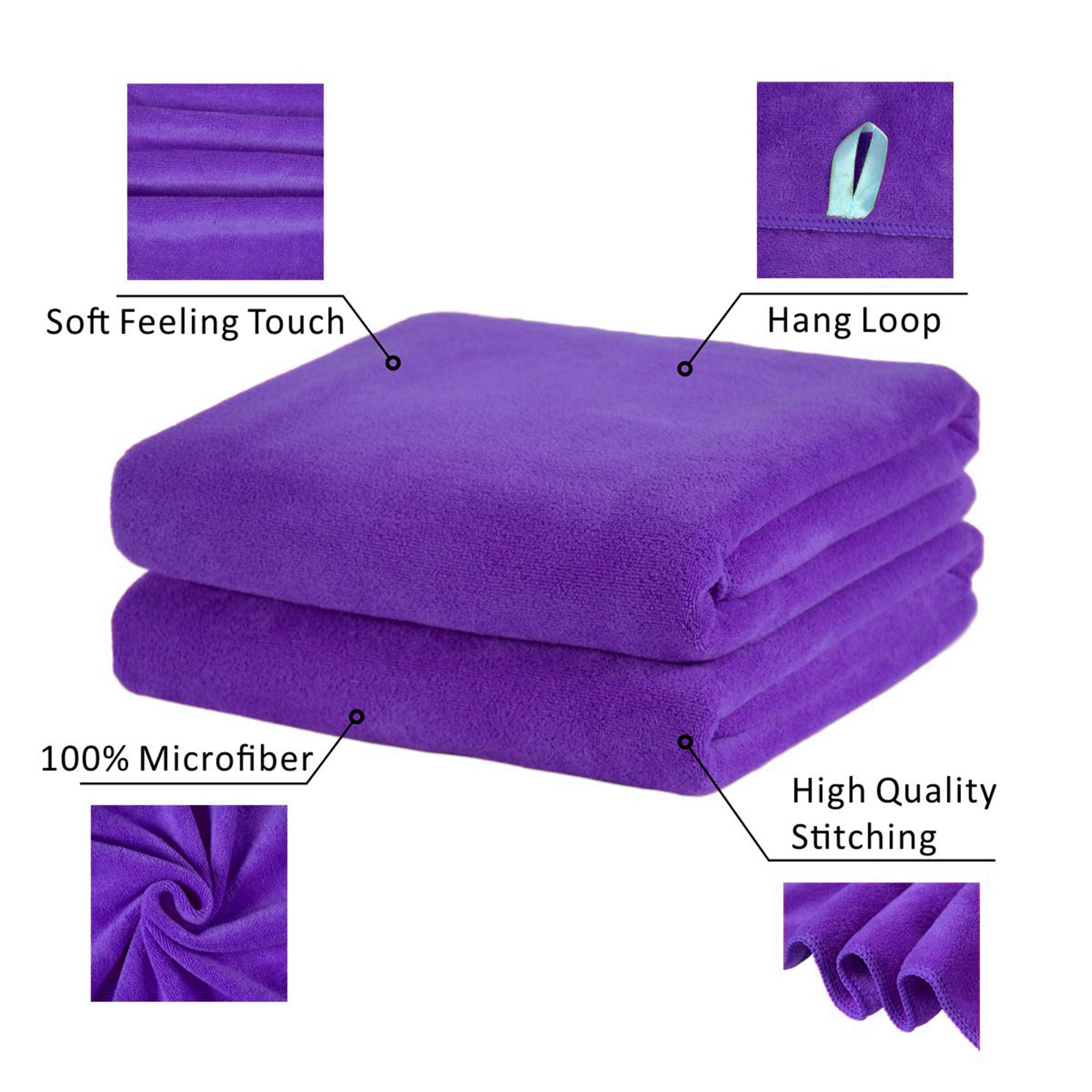 "Microfiber Bath Towel Set 2 Pack-30""x60"",Solid Colors"