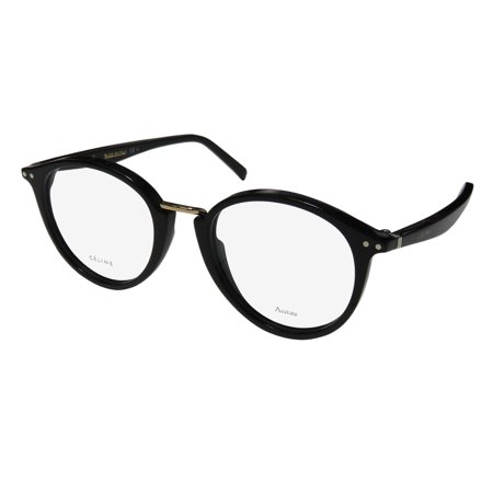 New Celine 41406 Womens/Ladies Designer Full-Rim Black / Gold Simple & Elegant Made In Italy Frame Demo Lenses 48-19-140 Eyeglasses/Eye (Eyeglasses Made In Japan)