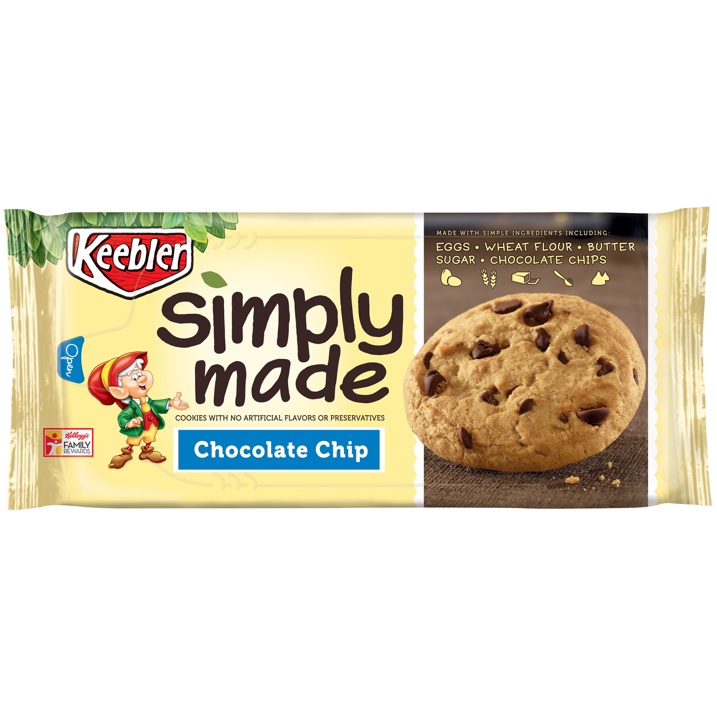 Keebler Simply Made Chocolate Chip Cookies, 10 ounce