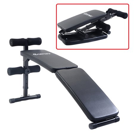 Costway Adjustable Folding Arc-shaped Sit Up Bench Gym Home Exercise Fitness Workout