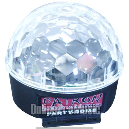PATRON PRO AUDIO PARTYDOME LED Crystal Magic Ball with 6 Different Colors ()