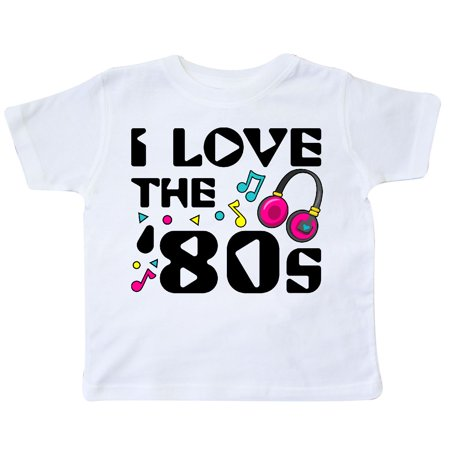 Inktastic I Love The 80S Musical Notes Toddler T Shirt 80S Eighties Music Pop