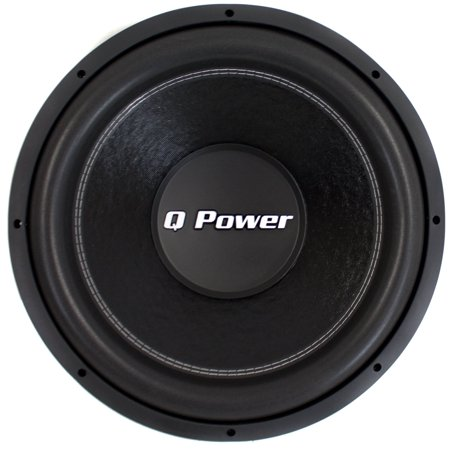 "QPower QPF15 15"" 2200W Deluxe Series Dual Voice Coil Car Audio Power Subwoofer"