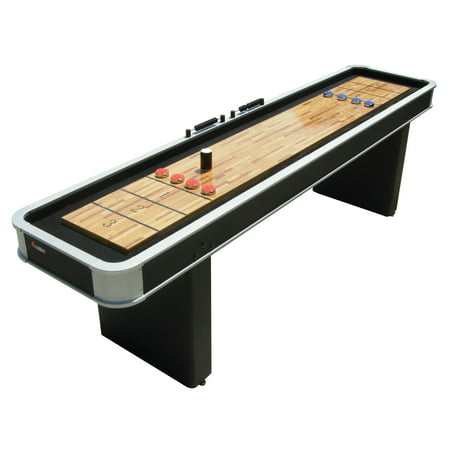 Atomic 9' Platinum Classic Shuffleboard Table Includes Eight Pucks