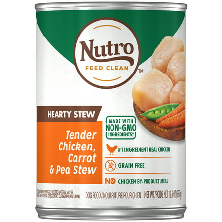 NUTRO HEARTY STEW Adult Canned Wet Dog Food Cuts in Gravy Tender Chicken, Carrot & Pea Stew, 2.5 oz. - Hparty City