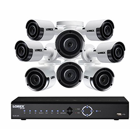 Lorex[r] Lnk71082t85b 8-channel 4k 2tb Poe Nvr With 8 5-megapixel Color Night Vision Indoor/outdoor Security Cameras