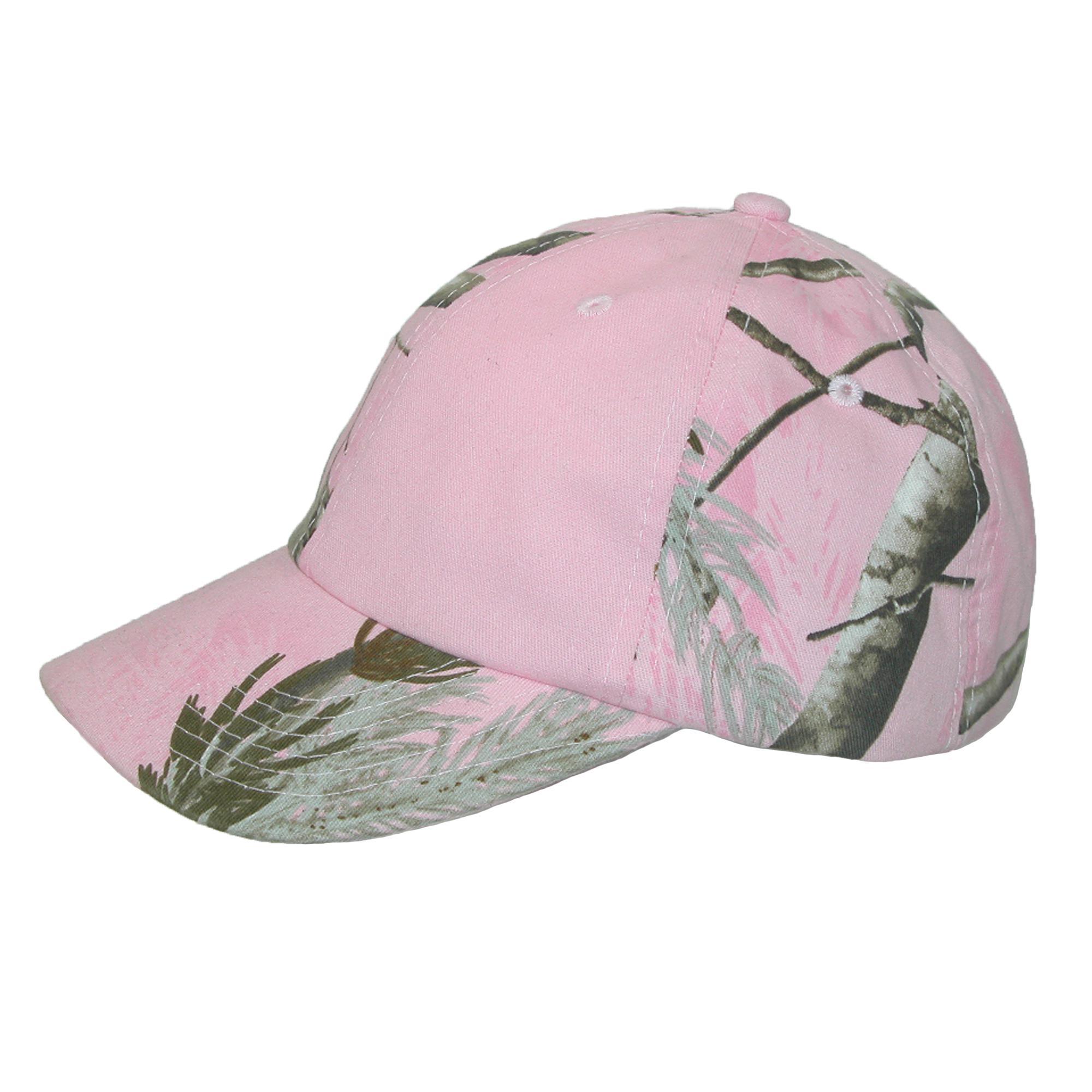 New CTM Women/'s Kati Treestand Pink Camo Baseball Hat