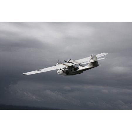 Us Army Air Force - Consolidated PBY Catalina vintage flying boat in US Army Air Force naval rescue colors Poster Print