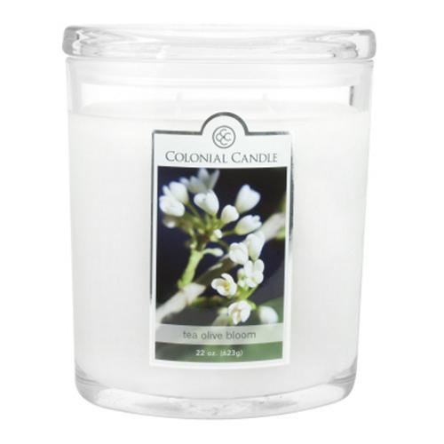 pack of 2 colonial candle tea olive bloom scented white jar candles 22 oz