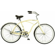 "26"" Titan Docksider Deluxe Men's Beach Cruiser Bike, Glossy Cream Color"