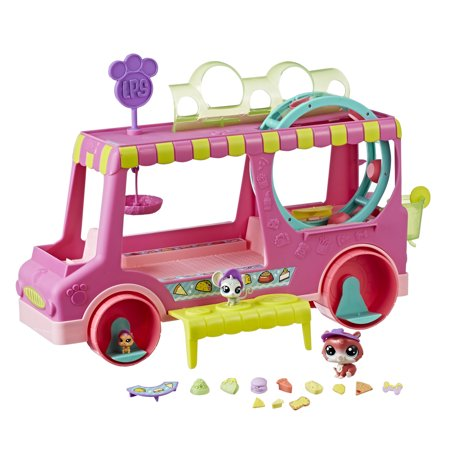 (Littlest Pet Shop Tr'eats Truck Toy, Rolling Food Truck Playset)