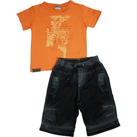 50aa656f6 MISH MISH - Mish Mish Infant Toddler Boys Cotton Short Sleeve Tank Tee  Shirts Short Sets, 26672 orange black ancient zulu / 2 - Walmart.com