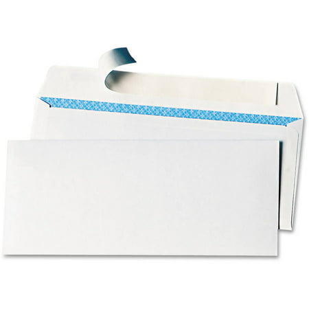Doc Envelope - (2 Pack) Universal Peel Seal Strip #10 Security Business Envelope 100/Box