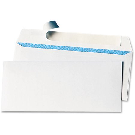 (2 Pack) Universal Peel Seal Strip #10 Security Business Envelope (Straw Envelope)