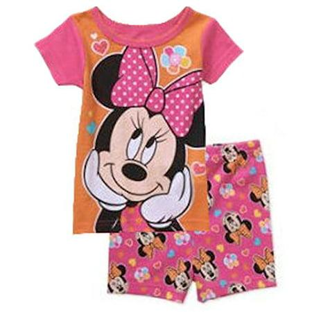 9cee7c56c633 Disney - Minnie Mouse Baby Girls 2 Piece Shirt   Shorts Pajama Set ...