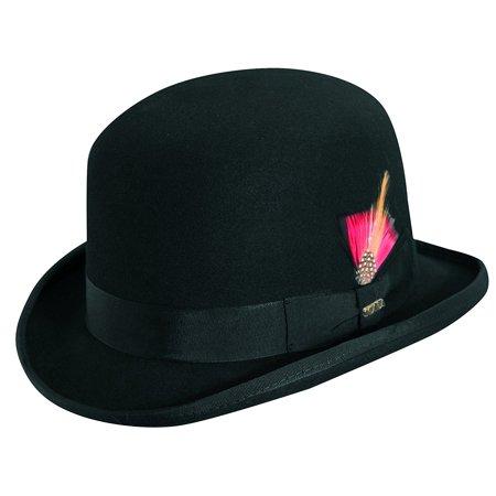 36c5f8b3b8c92 SCALA - Men s Wool Felt Derby Bowler Hat - Walmart.com