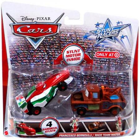 Francesco Bernoulli & Race Team Mater Plastic Car 2-Pack Stunt -