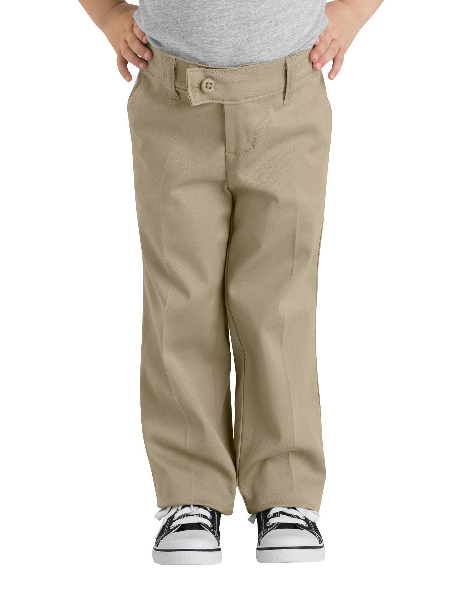 Girls' Slim Fit Straight Leg Stretch Twill Pants (Big Girls)
