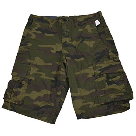 New  GAP Men Green Camo Cargo Shorts (31) (New Mens Gap)