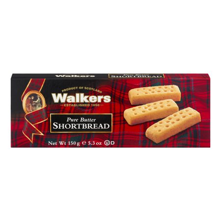 (2 Pack) Walkers Pure Butter Shortbread Cookies, 5.3 oz