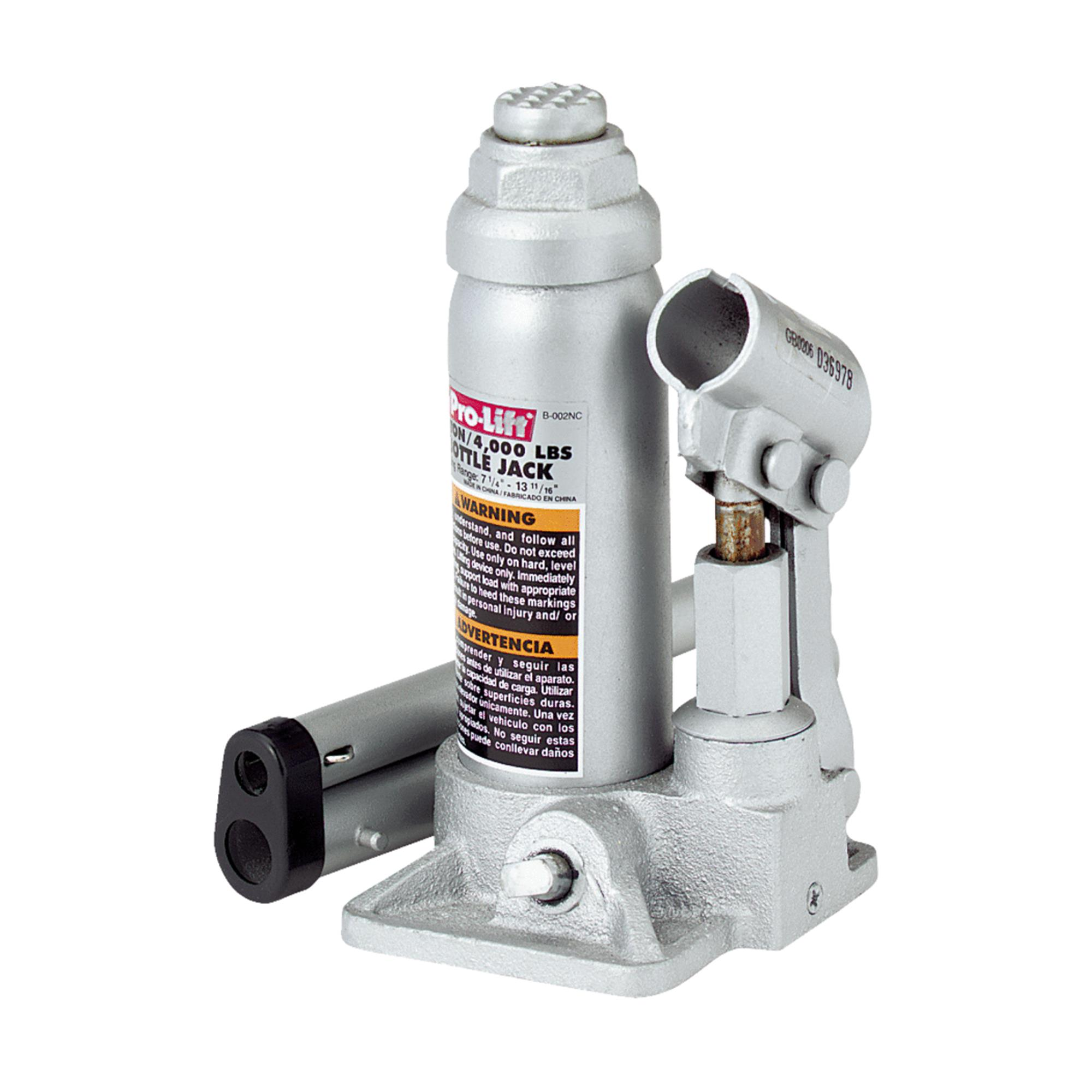 Pro-Lift B-002D Grey Hydraulic Bottle Jack, 2 Ton Capacity
