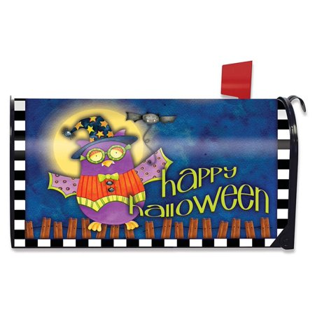 Halloween Owl Primitive Magnetic Mailbox Cover Standard Briarwood Lane](Halloween Lovers Lane)