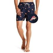 Mens Swim Trunks Board Shorts Bathing Suits Elastic Waist Drawstring Pineapple X-Large
